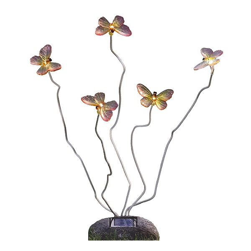 LED Solarleuchte Solarlampe Schmetterling ASSISI Steinoptik Konstsmide 7628-000