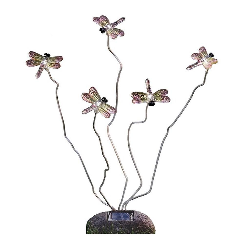 LED Solarleuchte Solarlampe Libelle ASSISI Steinoptik Konstsmide 7629-000
